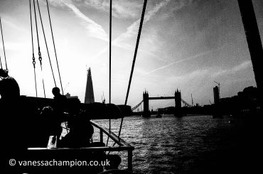 Tower Bridge and the London Thames from a Tall Ship London Prints for offices, hotels, foyers, interior design, architecture, buildings, office spaces, new offices, bespoke and large stock library