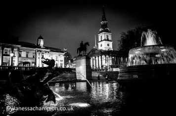 Night in Trafalgar Square St Martins in the Field and National Gallery London, London Prints for offices, hotels, foyers, interior design, architecture, buildings, office spaces, new offices, bespoke and large stock library