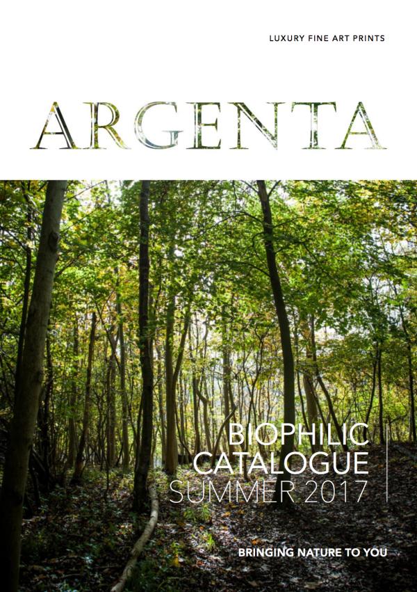 ARGENTA fine art photography catalogue nature prints