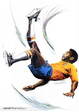Brazilian footballer Pele is regarded as the greatest player ever and in 1999 was voted World Player of the Century and joint winner of Fifa Player of the Century. Pele represented Brazil at full international level at 16 years old and is the only player to win three Fifa world Cups in 1958,1962 and 1970. Pele is still Brazil's record International goalscorer with 77 goals in 92 games. Since retiring from football in 1977 Pele has been a worldwide ambassador for football and also featured in the Film Escape to Victory.